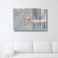 Oliver Gal 'Love Force Field Copper'  Canvas Art - Blue
