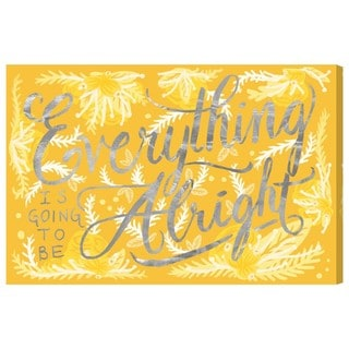 Oliver Gal 'Alright Canary' Canvas Art