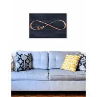 Oliver Gal  'Infinite Love' Fashion Wall Art Print on Premium Canvas