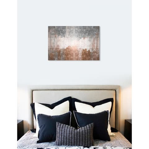 Oliver Gal 'Versus' Abstract Wall Art Canvas Print - Bronze, Gray