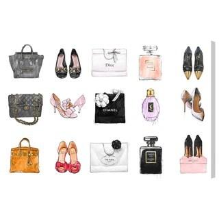 Oliver Gal 'Fashion Chart'  Canvas Art