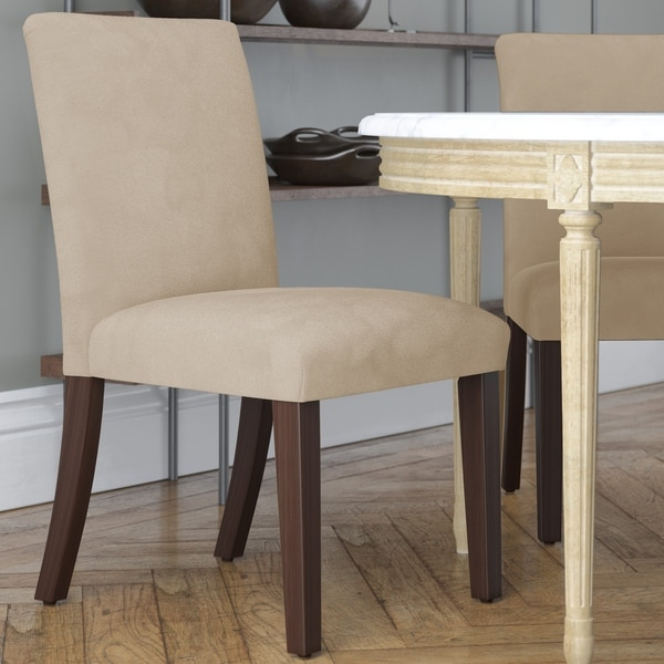 Shop Skyline Furniture Dining Chair in Microsuede Oatmeal ...