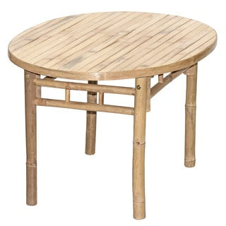 Handcrafted Oval Bamboo End Table (Vietnam)