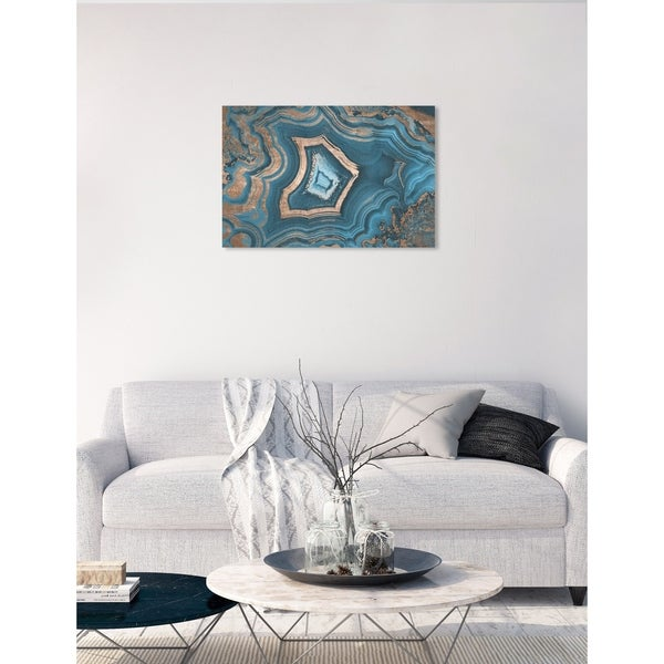 Oliver Gal 'Dreaming About You Geode' Abstract Wall Art Canvas Print - Blue, Bronze. Opens flyout.