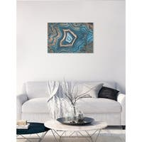 Oliver Gal 'Dreaming About You Geode'  Canvas Art - Blue