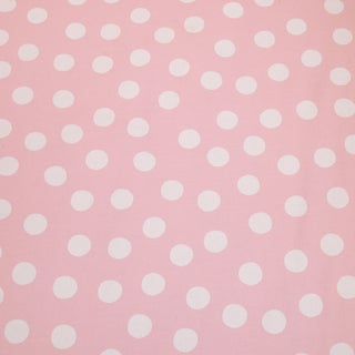 Poppy Pink Background w/ Big White Dot Fabric (3 Yards)