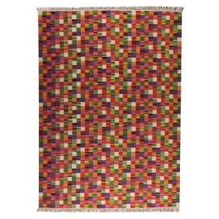 M.A.Trading Hand-woven Small Box Multicolored Rug (6'6 x 9'9)