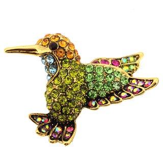 Multicolor Hummingbird Lapel Pin