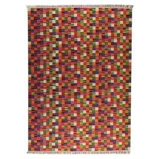 M.A.Trading Hand-woven Small Box Multicolored Rug (5'6 x 7'10)