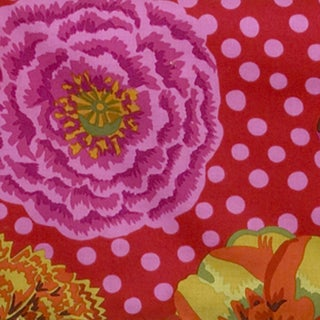 Tula Pink Background Flower Print Fabric (3 Yards)