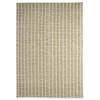 M.A.Trading Hand-woven Palmdale White/ Green Rug (5'6 x 7'10) (India)