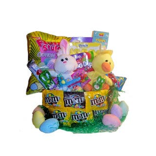 Candy chocolates girlfriend gift baskets for less overstock hopity hop easter basket negle Gallery