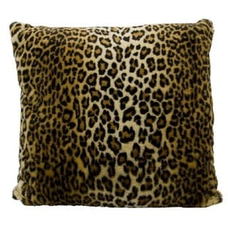 "Mina Victory by Nourison Faux Fur Brown Throw Pillow (22"" x 22"")"