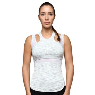 Athletic Racerback Tank With Mesh