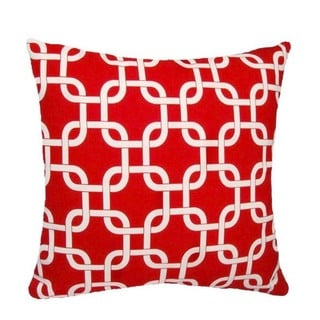 18-inch Lipstick Red Chain Link Design Pillow Cover