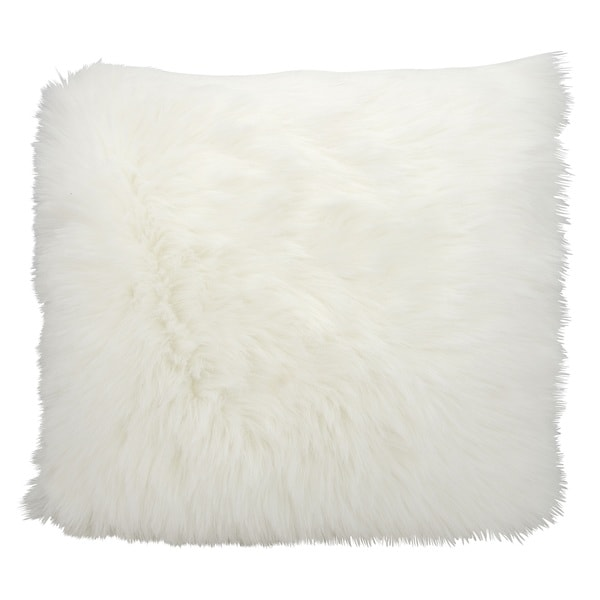 Mina Victory by Nourison Faux Fur White Throw Pillow (26-Inch X 26-Inch)