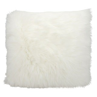 "Mina Victory by Nourison Faux Fur White Throw Pillow (26"" x 26"")"