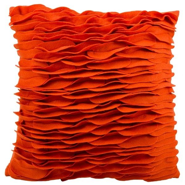 Shop Mina Victory By Nourison Felt Burnt Orange Throw
