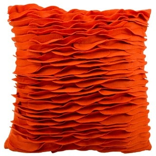 "Mina Victory by Nourison Felt Burnt Orange Throw Pillow (18"" x 18"")"