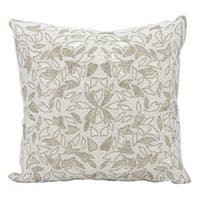 Mina Victory Luster Beaded Vines SilverThrow Pillow by Nourison (18-Inch X 18-Inch)