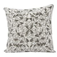 Mina Victory Luster Beaded Vines Pewter 18 x 18-inch Throw Pillow by Nourison
