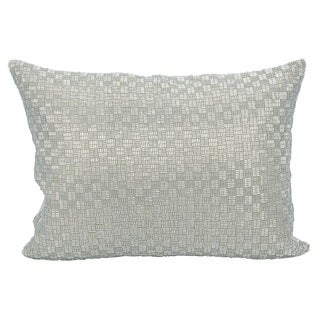 Mina Victory Luster Woven Luster SilverThrow Pillow by Nourison (10-Inch X 14-Inch)
