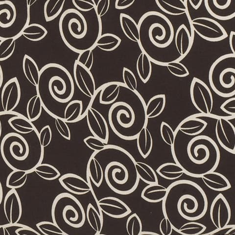 Raspberry Dot Brown Background Ivory Paisley Fabric (3 Yards)