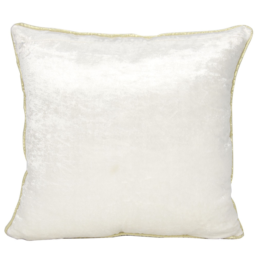 Shop Mina Victory Luster Sun Shimmer IvoryThrow Pillow by Nourison (16-Inch X 16-Inch) - 11511981