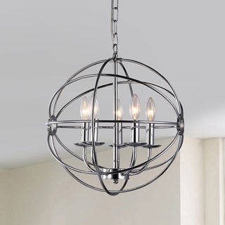 Link to Aidee 5-light Chrome 16-inch Spherical Chandelier Similar Items in Chandeliers