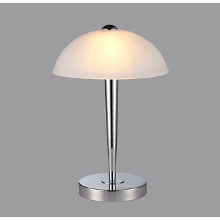 Quartilla 1-light White Glass 11-inch Table Lamp
