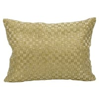 Mina Victory Luster Woven Luster Gold 10 x 14-inch Throw Pillow by Nourison