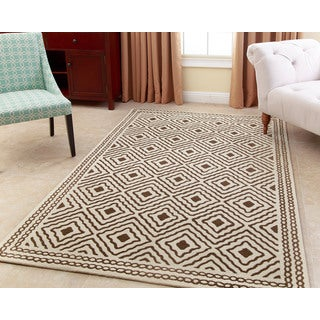 ABBYSON LIVING Hand-tufted Claridge Olive New Zealand Wool Rug (5' x 8')