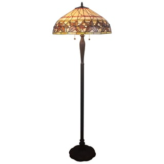 Christel 3-light Multicolor 20-inch Leafy Tiffany-style Floor Lamp