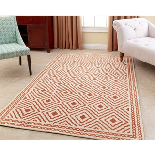 ABBYSON LIVING Hand-tufted Claridge Burnt Orange New Zealand Wool Rug (3' x 5')