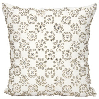 Mina Victory Luster Shimmer Starshine Ivory 16 x 16-inch Throw Pillow by Nourison