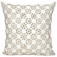 Mina Victory Luster Shimmer Starshine IvoryThrow Pillow by Nourison (16-Inch X 16-Inch)