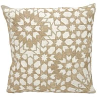 Mina Victory Luster Gleaming Stars IvoryThrow Pillow by Nourison (16-Inch X 16-Inch)