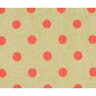 Raspberry Dot Light Tan Background Dark Pink Dot Print Fabric (3 Yards)