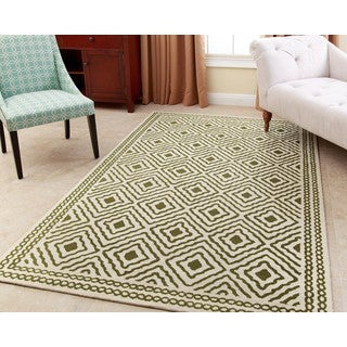 ABBYSON LIVING Hand-tufted Claridge Green New Zealand Wool Rug (3' x 5')