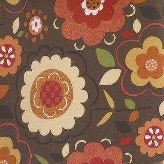 Peggy Sue Brown Background w/ Flower Print Fabric (3 Yards)