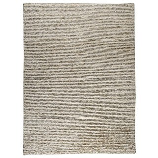 Handmade M.A.Trading Nature White Rug (India)