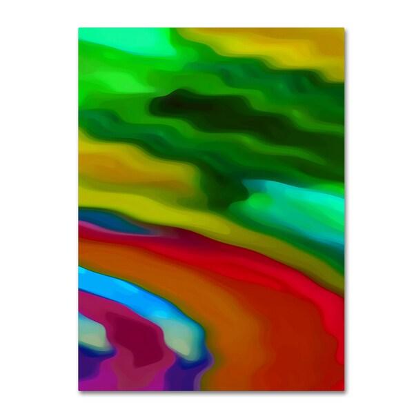 Amy Vangsgard 'River Runs Through Vertical 3 ' Canvas Wall Art