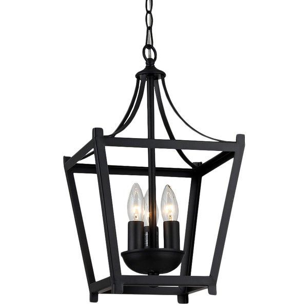 Giuliana 3 light Black finish 10 inch Chandelier Free