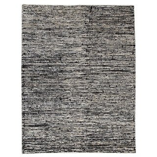 Handmade M.A.Trading Nature White/ Black Rug (India)