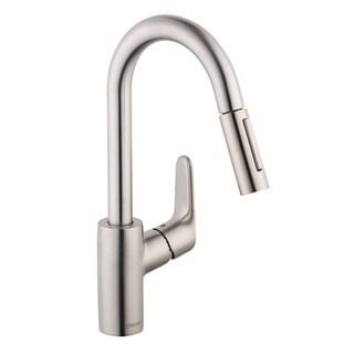Hansgrohe Focus Deck Mount Bar Faucet 04506801 Steel Optik