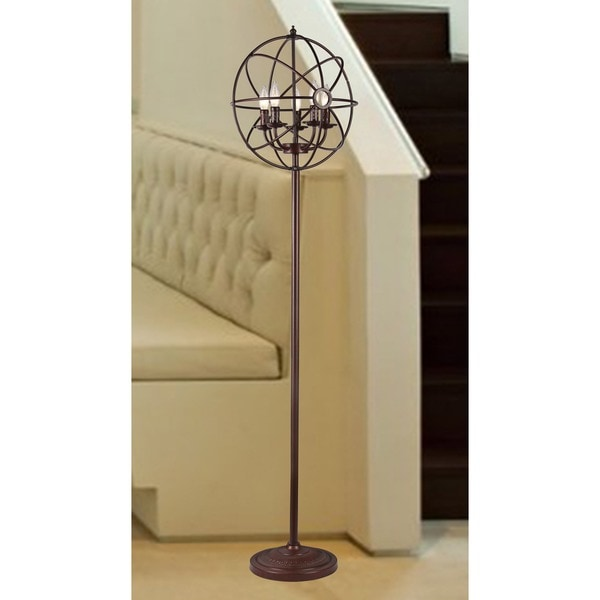 Maaja 5-light Spherical Metal 66-inch Antique Floor Lamp
