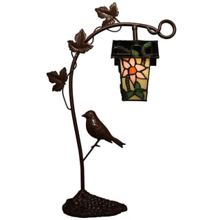 Cornelia 1-light Bird's House 21-inch Tiffany-style Table Lamp