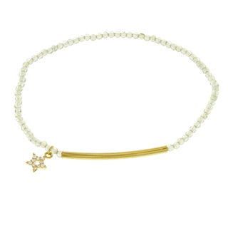 Fox and Baubles Gold over Silver Cubic Zirconia Charm Bracelet