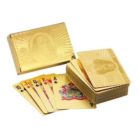 Ben Franklin Gold Foil Playing Cards