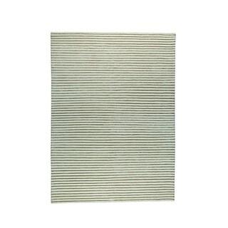 Hand-woven Goa White Rug (5'6 x 7'10)